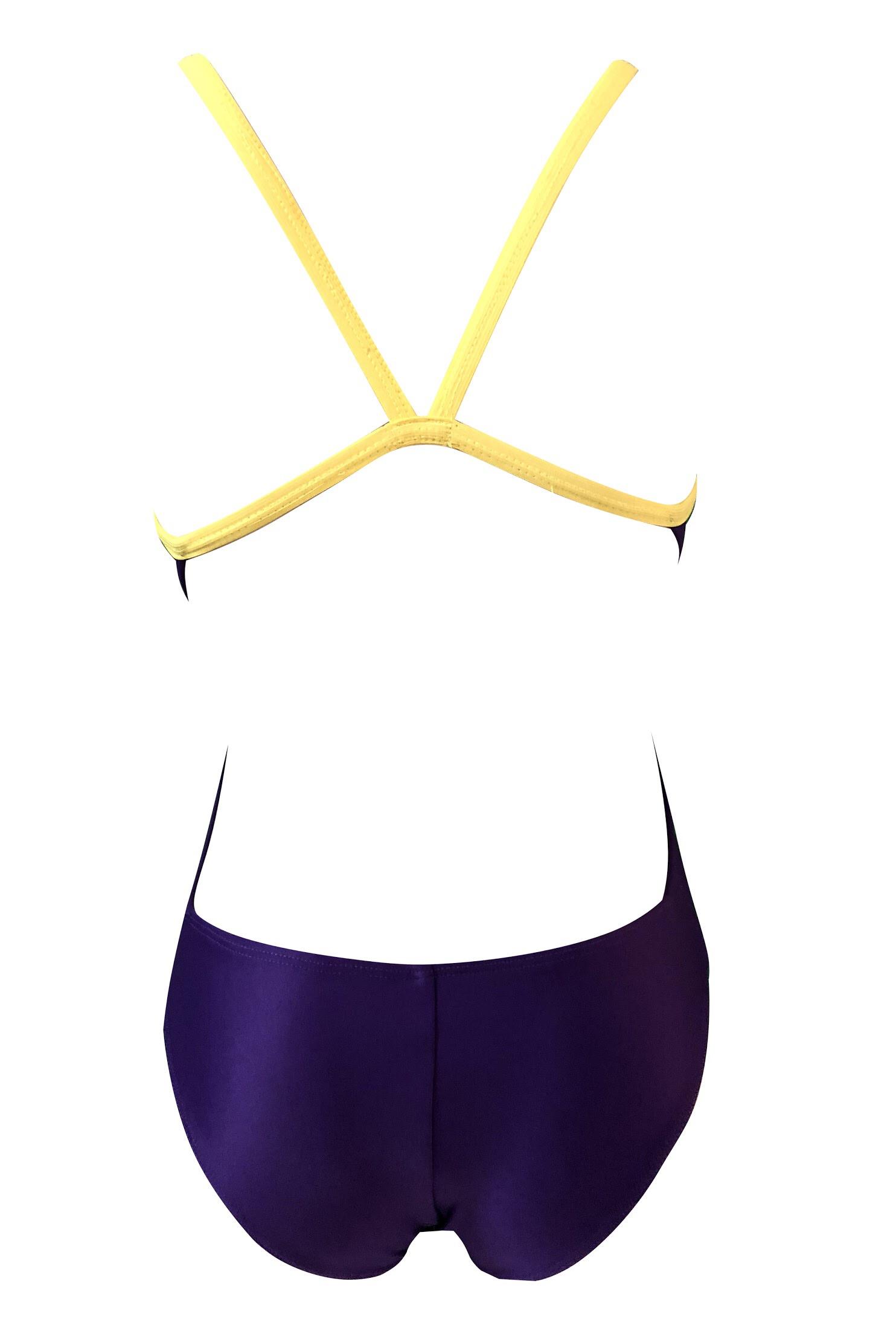 cb8f0243a Click to enlarge. InícioMaiôsLow Coverage Maiô Natação Estrela d Acqua  Purple   Yellow – Mod.